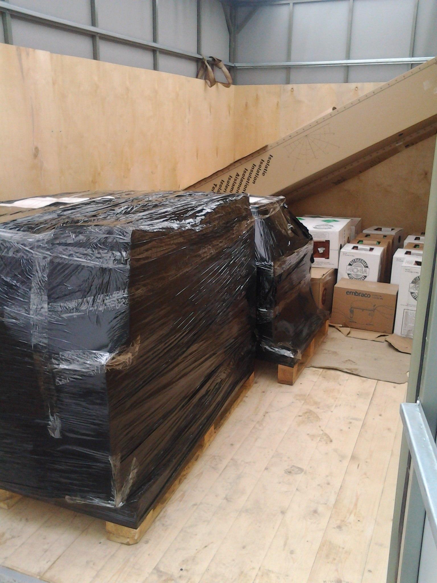 Упаковка оборудования с обрешеткой